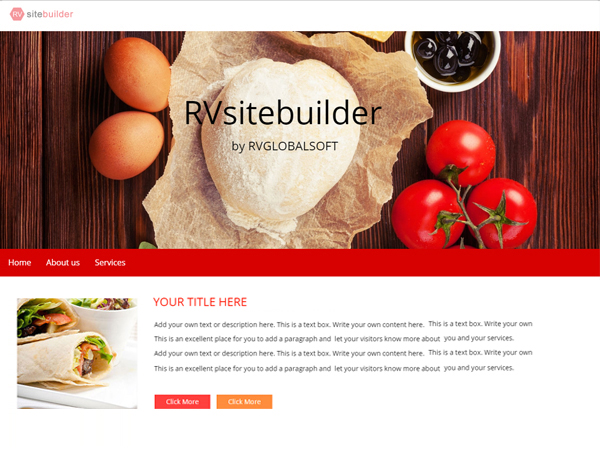 Build website without any coding skill with RVsitebuilder